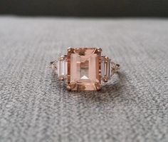 21 Vintage-Inspired Engagement Rings That Will Never Go Out Of Style | HuffPost Life Emerald Cut Diamond Engagement Ring, Morganite Engagement, Three Stone Engagement Rings, Diamond Wedding Bands, Halo Engagement, Vintage Inspired Engagement Rings, Ringe Gold, Right Hand Rings, Gold Wedding Rings