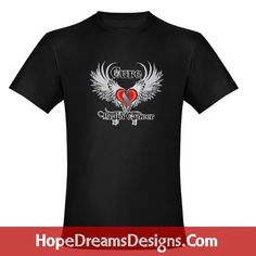 Cure Brain Cancer shirts, apparel and gifts with stand out tattoo style ribbon design for awareness  by hopedreamsdesigns.com #braincancer #braincancerawareness #braincancershirts