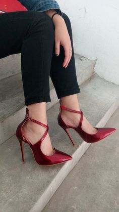 Tbdress.com offers high quality Burgundy Cross Wrap Pointed Toe Stiletto Heel Women's Pumps Sandals unit price of $ 59.99.