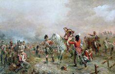 Buy Art Reproductions The Field at Waterloo Waterloo 1815, Battle Of Waterloo, Military Diorama, Military Art, Military History, Cultura General, Art Thou, Painting Wallpaper, Napoleonic Wars