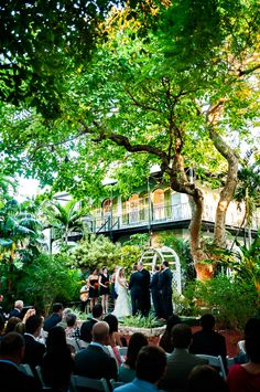 Here is a photo with the existing arch  Key West wedding at the Hemingway House