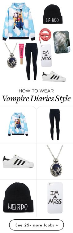 """Been in bed all day. Im still sad. Day 3"" by nightmarelove on Polyvore featuring Urbanears, Too Faced Cosmetics, NIKE, LAUREN MOSHI, adidas, women's clothing, women's fashion, women, female and woman"