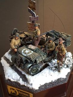 From Armour Modelling 1999 Vol.13 WWII jeep and soldiers diorama.