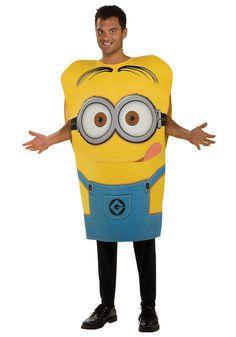 Adult Minion Dave Costume - Despicable Me 2 Minion Halloween Costumes, Funny Costumes, Movie Costumes, Cool Costumes, Adult Costumes, Adult Halloween, Halloween Ideas, Funny Halloween, Female Costumes