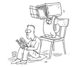 Simon's Cat by Simon Tofield. so, it works both ways, huh!