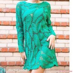. Платье-туника листопад. Crochet Coat, Crochet Lace, Crochet Dresses, Freeform Crochet, Irish Crochet, Bohemian Girls, Altered Couture, Irish Lace, Crochet Patterns