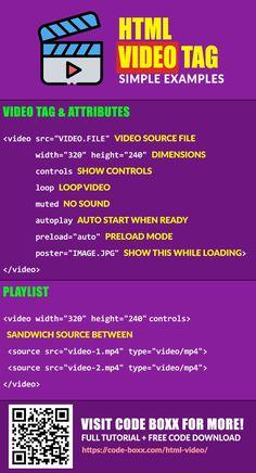 Mode Poster, Video Source, Html Css, Hardware Software, Computer Hardware, Programming, Infographic, Web Design, Web Development