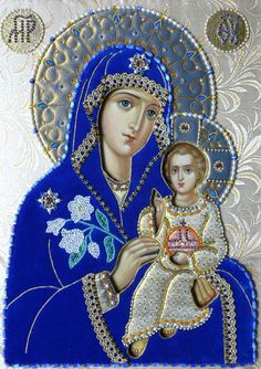 unfading bloom icon of virgin mary in oklad