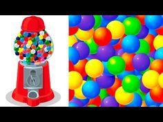 Colors for Children to Learn with Gumball Machine - Colors for Kids to Learn - Kids Learning Videos - YouTube