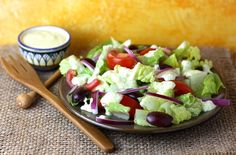 Summer salad with cr