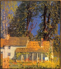 ۩۩ Painting the Town ۩۩  city, town, village & house art - Gustave Baumann