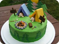 camping tent cake- too bad I hate fondant :)