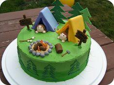 camping tent cake- too bad I hate fondant :)