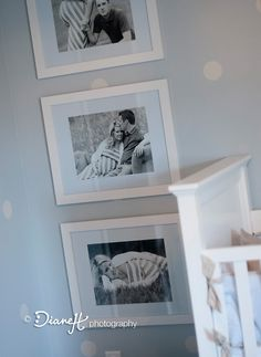 Love the idea of hanging the maternity photos in the nursery
