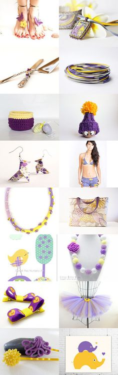 """purple and yellow""  by Nesrin on Etsy--Pinned with TreasuryPin.com"