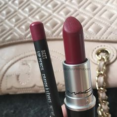 In love with this combo lipstick: D for danger, lip pencil: beet