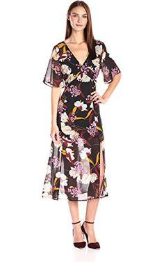 4b2241df22 MINKPINK Women s Lost in Paradise Print Midi Dress