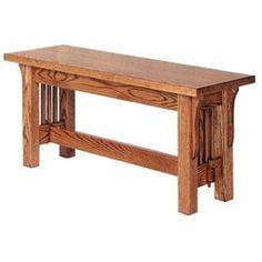 "Crystal Valley Hardwoods Landmark Mission Bench Red Oak Size: 36"" x 13"" x 18"" $399.00"