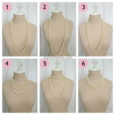 """How to wear a 60"""" Pearl Necklace 21 ways2 by Stylish Petite, via Flickr"""