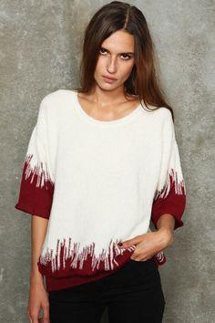 Iro Gia Short-Sleeved Coloured Trim Sweater #UOSTYLE