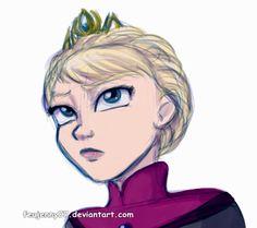 Queen Elsa by FEuJenny07 on deviantART