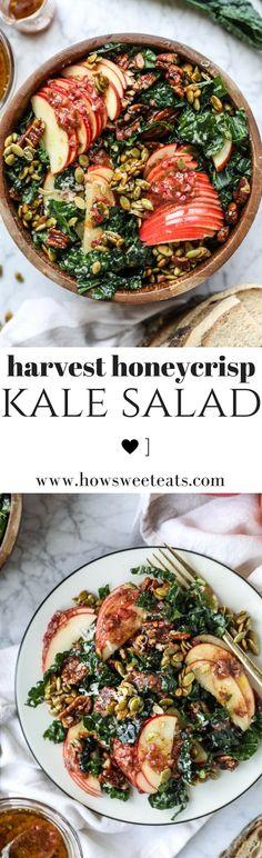Honeycrisp Harvest Kale Salad I howsweeteats.com