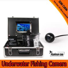 318.70$  Buy here - http://aliiij.worldwells.pw/go.php?t=32639437279 - (1 Set)30M Cable Underwater Fishing Camera System HD 700TVL line 7 inch color panel Night version Waterproof Fish Finder