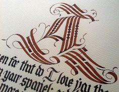 Textura calligraphy