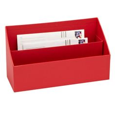 Need this for the home desk - Bigso™ Stockholm Letter Sorter Red at The Container Store