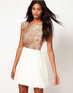 ASOS Fashion Finder   ASOS Skater Dress With Sequin T-Shirt