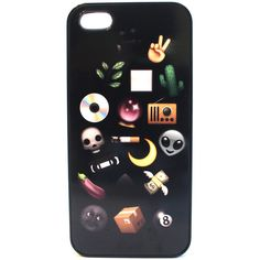 Grunge Emojis Phone Case (28 AUD) ❤ liked on Polyvore featuring accessories and tech accessories