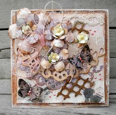 Scrappiness Shabby Chic Cards, Christmas Crafts, Floral Wreath, Pastel, Wreaths, Frame, Inspiration, Tags, Home Decor