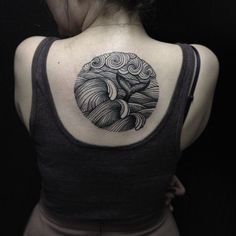 whales tail back tattoo for girls