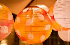 DIY Hanging Globe Lights: Inspired by Chinese paper lanterns, these solar-powered hanging globe lights make a world of difference in any outdoor setting.