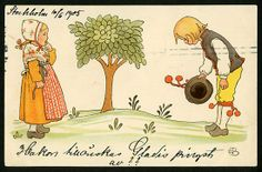 Nordic Thoughts: Vintage Elsa Beskow postcards