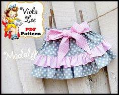 Girl's double ruffle skirt pdf sewing pattern for babies, toddler & girls. Boys Sewing Patterns, Baby Girl Dress Patterns, Baby Girl Dresses, Toddler Skirt, Baby Skirt, Ruffle Skirt, Little Girl Skirts, Skirts For Kids, Baby Sewing