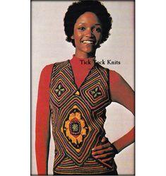 No.533 PDF Vintage Crochet Pattern For Women  by TickTockKnits