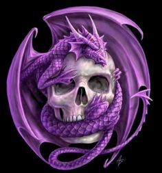 Purple Dragon Logo ~ Anne Stokes ~ http://ironshod.deviantart.com/ ♥ Recolored, original is a beautiful orange. I am not sure if the recolor was done by Anne Stokes but I do like this version.