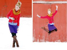 Color and pattern collide...and jump!
