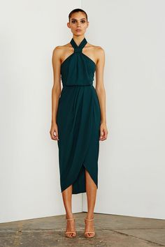 Shona Joy Core Knot Draped Dress find it and other fashion trends. Online shopping for Shona Joy clothing. Shona joy's core knot draped midi dress is made. Affordable Bridesmaid Dresses, Bridesmaid Dresses Online, Homecoming Dresses, Knot Dress, Dress Skirt, Dress Up, Apron Dress, Dress Shoes, Shoes Heels