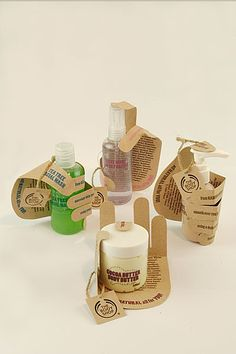 odd! Body Shop (Student Work) - hand sleeve for each product to symbolize it has been hand made for you. Great to see these all together PD Oops didn't see this pinned already.