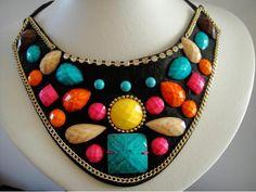 Maxi colar multicolor