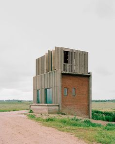 Image 20 of 37 from gallery of Skjern River Pump Stations / Johansen Skovsted Arkitekter. Photograph by Rasmus Norlander A As Architecture, Industrial Architecture, Residential Architecture, Contemporary Architecture, Concrete Facade, Roof Extension, Building Exterior, Old Buildings, Brutalist