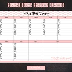 Sign up for your free social media weekly planner. Down load your FREEBIE pdf printable.