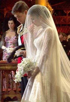 Marie Marguerite, Duchess of Anjou, is a lovely young royal. What a beautiful picture ...love the veil.