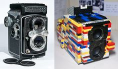 Fully-Functional Twin-Lens Reflex Camera Created Using LEGO Bricks