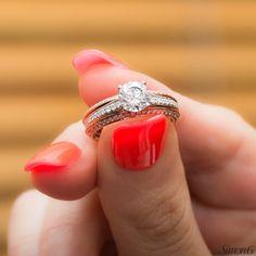 Beautiful multi-diamond engagement ring from Simon G. Jewelry