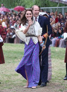 - Photo - As Prince William and Kate Middleton embark on a week-long trip to India and Bhutan, take a look at the most noteworthy moments. Princess Kate, Princess Charlotte, Duchess Kate, Duke And Duchess, Royal Look, Kate Middleton Style, Prince William And Kate, Bhutan, British Royals