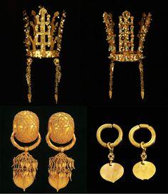 """'황금의 나라'라고 불리던 신라. 알 마크디시는 966년 저서 '창세와 역사서'에서 """"신라인들은 비단과 금실로 수놓은 천으로 집을 장식하고 밥 먹을 때는 금그릇을 사용한다""""라고 밝혔다. 신라 금관과 금귀고리 유물 알 이드리시는 1154년 저서 '천애 횡단 갈망자의 산책..."""