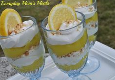 ~Lemon Pie Parfaits~ A deconstructed dessert that is both fun and refreshing. Bursting with lemon flavor with creamy and crunchy layers too, they are a fantastic summertime sweet treat.